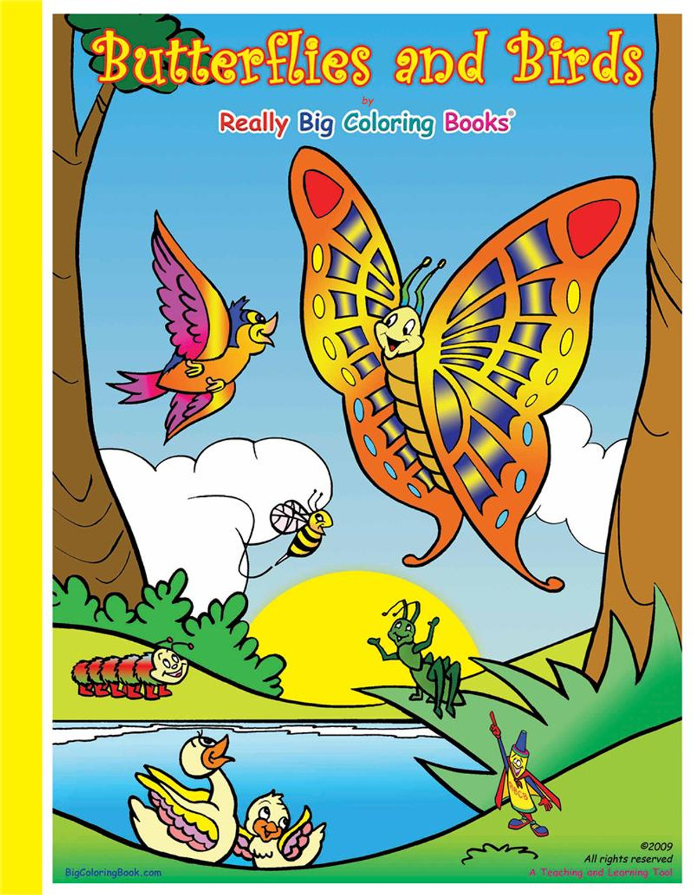 Butterflies & Birds Giant Coloring Book - Made In America Store