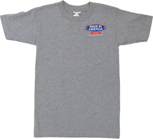 15beff4a7 Made In America Store Because China is a Long Drive to Work Pocket Tee
