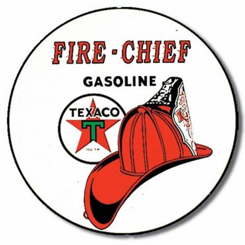 7bf8dea7e53 Texaco - Fire Chief Sign - Made In America Store