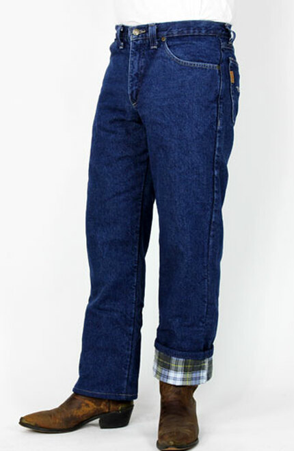 a162a0f1 Flannel Lined Blue Jeans - Made In America Store