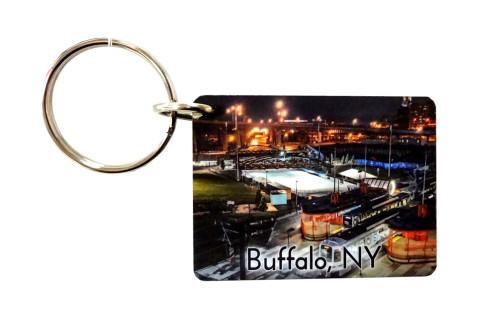 Buffalo Subway Wooden Keychain c8e893a1d