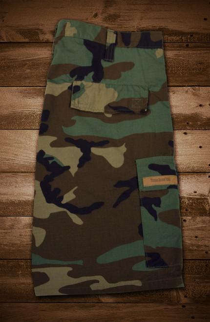 7087e615af Woodland Camo Cargo Shorts