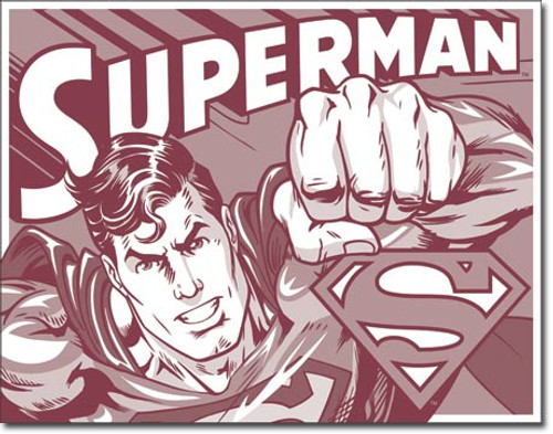 Superman Duotone Tin Sign 16 X12 5 Made In America Store