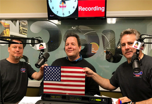 Valley Forge Flag On WECK Radio