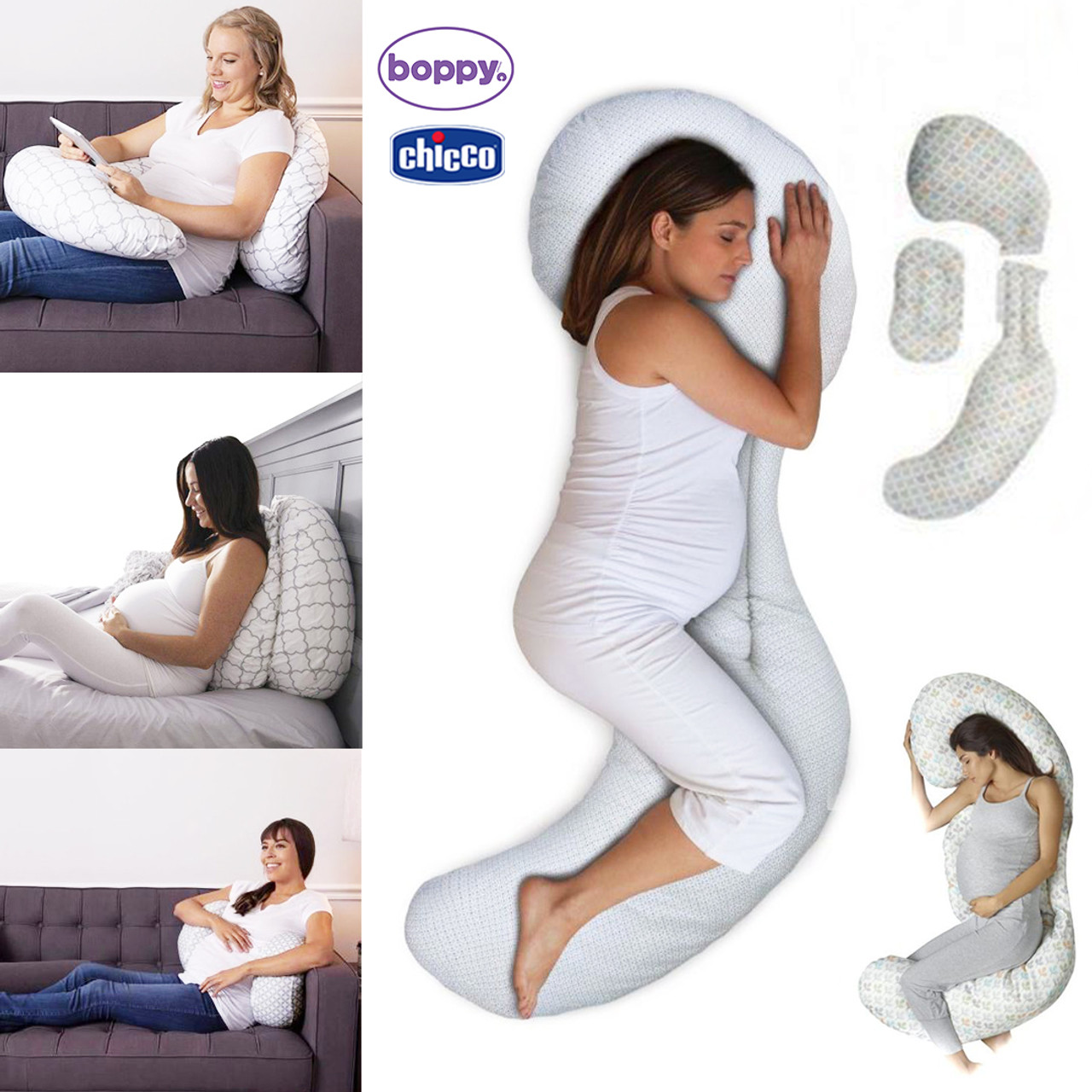 Boppy Total Body Pillow Glacier Chicco Wherever There S A Baby