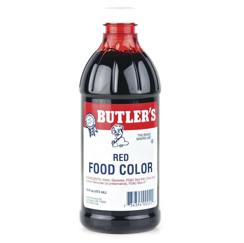 Butlers Red Food Coloring - 16 Oz Bottle - WinCrest Bulk Foods