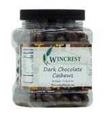 Dark Chocolate Cashews - 1.5 Lb Tub