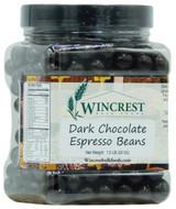 Dark Chocolate Espresso Beans - 1.5 Lb Tub