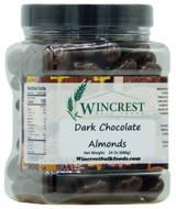 Dark Chocolate Almonds - 1.5 Lb Tub
