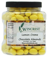 Lemon Creme Chocolate Almonds - 1.5 Lb Tub