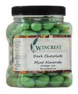Dark Chocolate Mint Covered Almonds - 1.5 Lb Tub