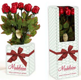 Milk Chocolate Roses - Red Foil - 12 ct Gift Box