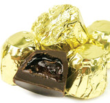 Dark Chocolate Foil Wrapped Cordial Cherries - 6 Lb Box