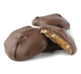 Asher's Sugar Free Milk Chocolate Cashew Caramel Patties - 6 Lb Case