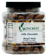 Milk Chocolate Covered Brazil Nuts | 1.5 Lb Tub