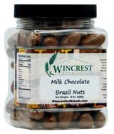 Milk Chocolate Covered Brazil Nuts | 1.5 Lb Tub
