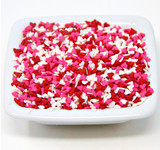 Mini Red, White & Pink Heart Shapes - 5 Lb Case
