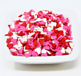 Pink, Red & White Heart Shapes - 5 Lb Case
