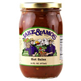 Jake & Amos Hot Salsa 16 Oz Jar
