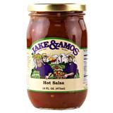 Jake & Amos Hot Salsa 16 Oz Jar