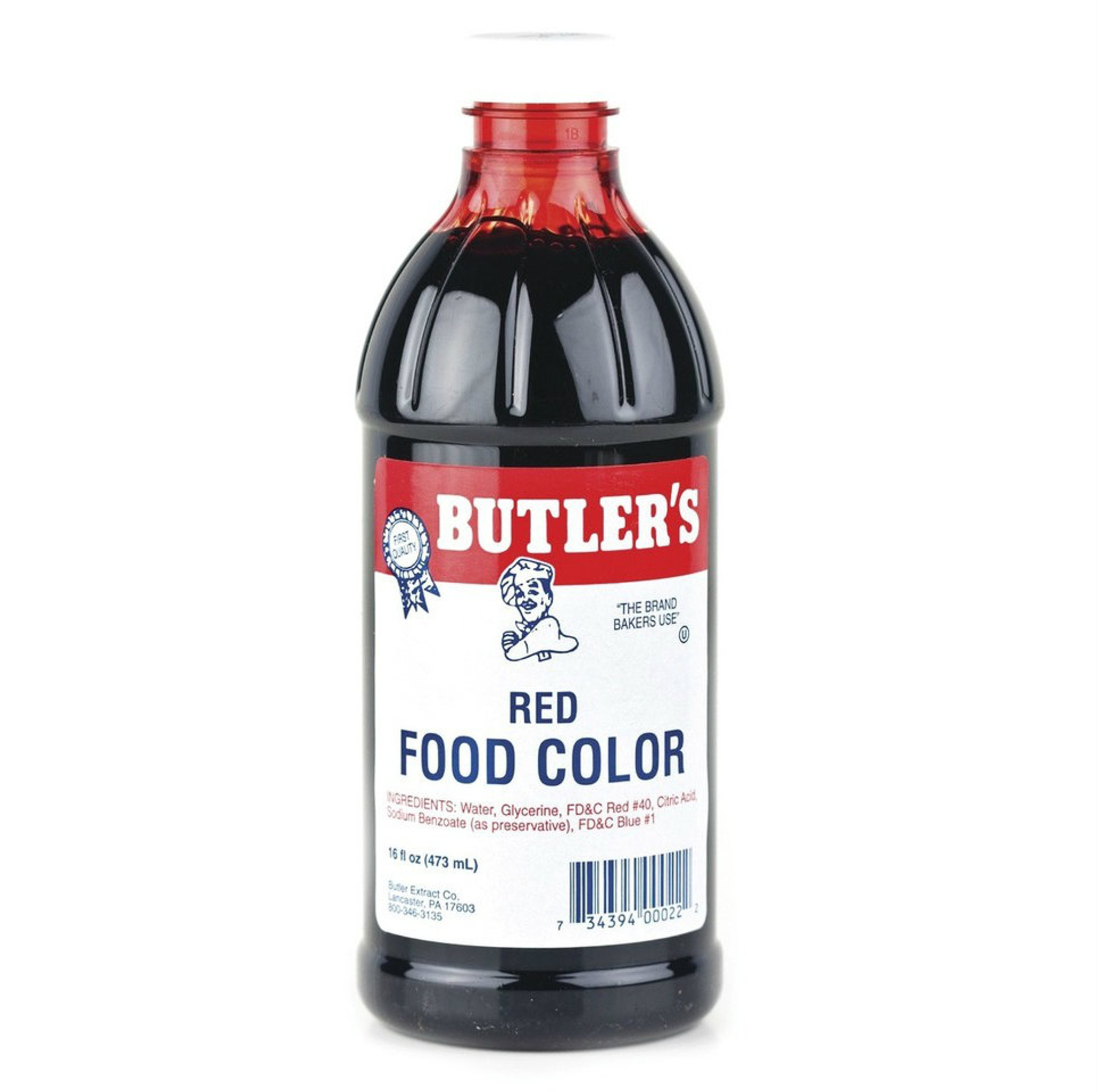 Butlers Red Food Coloring - 16 Oz Bottle