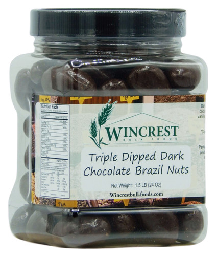 Dark Chocolate Brazil Nuts - 1.5 Lb Tub