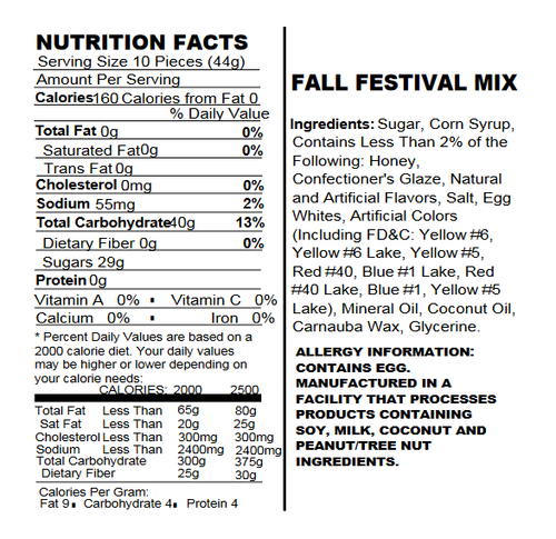 Fall Festival Mello Creme Mix - 1.5 Lb