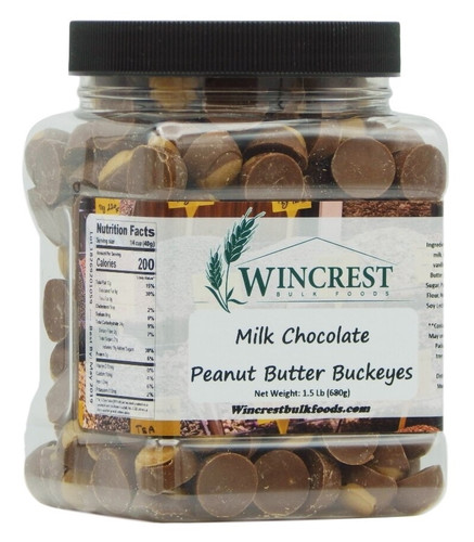 Mini Milk Chocolate Peanut Butter Buckeyes - 1.5 Lb Tub
