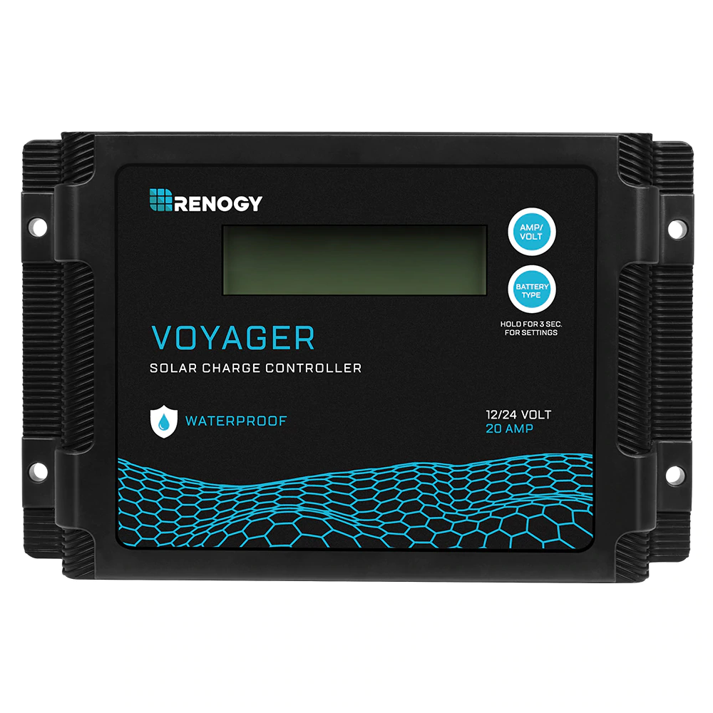 New Edition Voyager 20A PWM Waterproof Solar Charge Controller