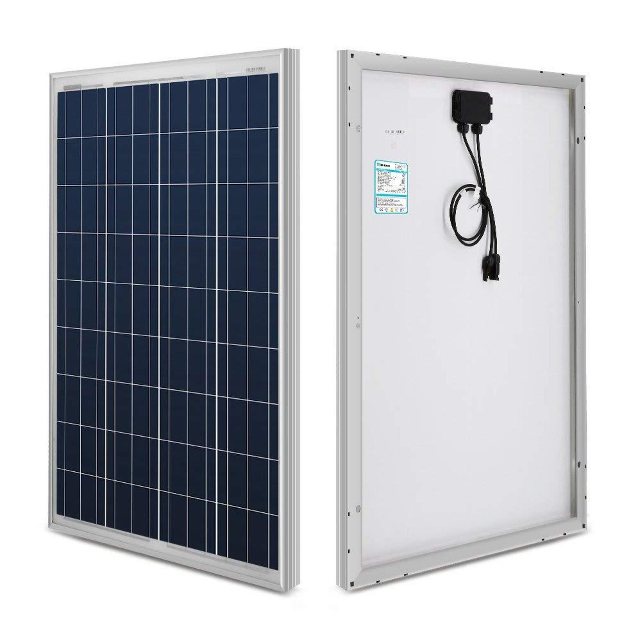 Renogy 100 Watt 12 Volt Polycrystalline Solar Starter Kit with 20A Rover MPPT Charge Controller