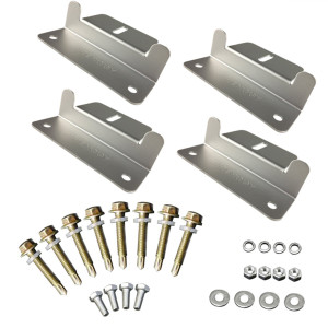 Solar Panel Mounting Z Bracket Set of 4