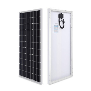 Renogy 2 Pieces 100 Watt 12 Volt Monocrystalline Solar Panel