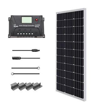 100 Watt 12 Volt Monocrystalline Solar Starter Kit with 20 A PWM controller