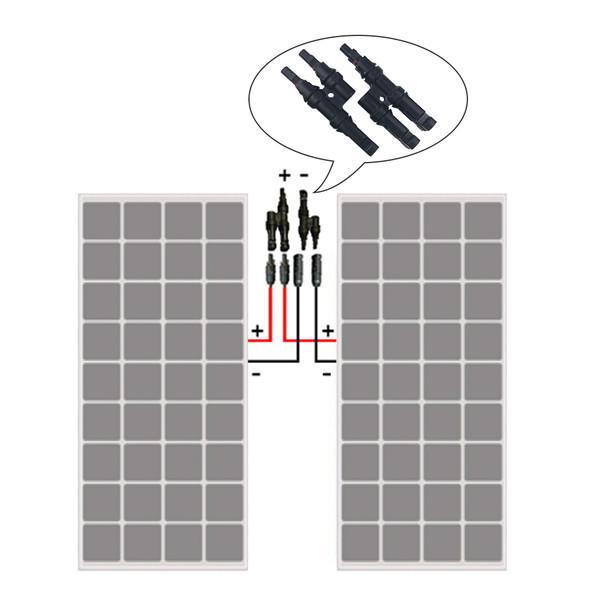 Solar MC4 Branch Connectors MMF+FFM Pair