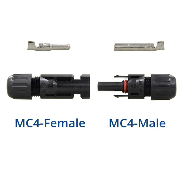 MC4 Male/Female Solar Panel Cable Connectors (5 Pair)