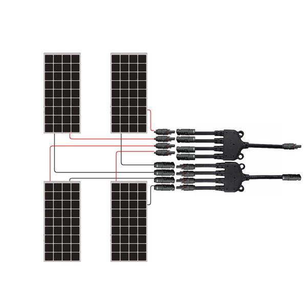 Renogy Solar MC4 Y Branch Connectors MFFFF  + FMMMM Pair