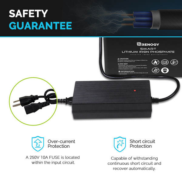 20A AC-to-DC LFP Portable Battery Charger