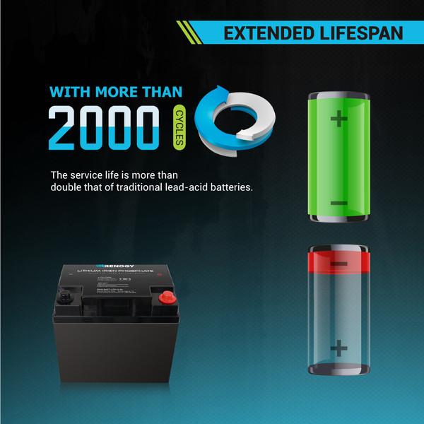 Lithium Iron Phosphate Battery 12 Volt 50 Ah