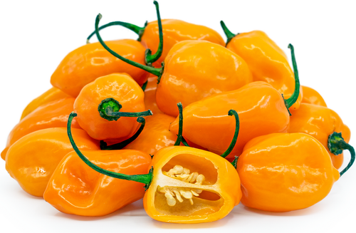 Pepper Hot 'Habanero Yellow' (Capsicum Chinense) Vegetable Plant Heirloom, 10 Seeds