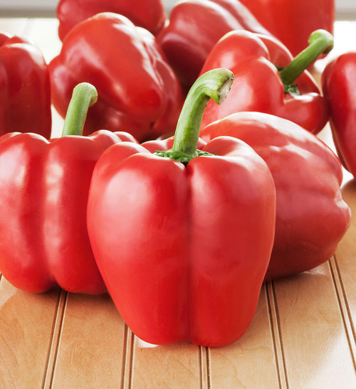 Pepper Sweet 'Quadrato D'Asti Rosso' (Capsicum Annuum) Vegetable Heirloom, 12-16 Seeds