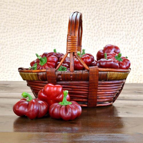 Pepper Sweet 'Topepo Rosso' (Capsicum Annuum) Vegetable Heirloom, 24-32Seeds
