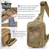 Tactical Military Trek Gun Sling Pack Shoulder Pack Day Pack 5 Zippered Compartments