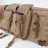 Tactical Rifle Long Gun Case Backpack Molle Front Panel 3 Ammunition Pockets