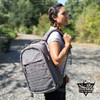 Yakeda Backpack Multi-function Hiking Camping School Travel Tactical Gray