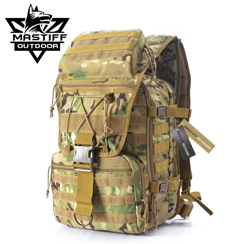 6eae1d2df Mastiff Outdoor Tactical Venture Backpack Military MOLLE Camping Rucksack