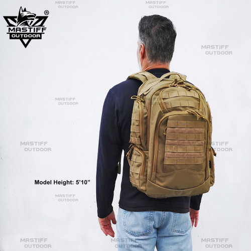 Mastiff Backpack 3 Day Multifunction Hiking Camping Tactical School Office Travel