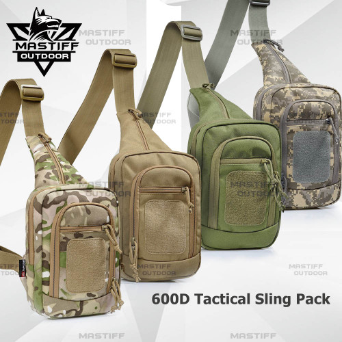 0252ff96b9a8 Tactical Military Trek Gun Sling Pack Shoulder Pack Day Pack 5 Zippered  Compartments