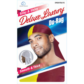 Dream Du-Rag Deluxe Smooth & TWO TONE Burgundy Yellow