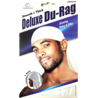 Dream Du-Rag Deluxe Smooth & Thick WHITE