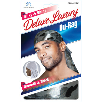 Dream Du-Rag Deluxe Smooth & Thick  - CAMO BLACK